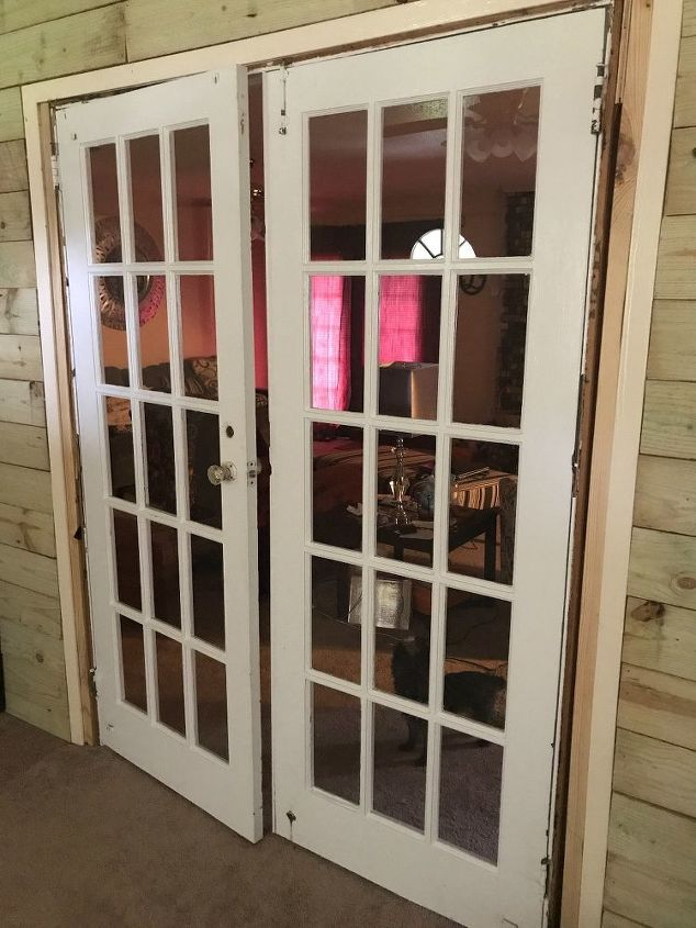 q how to install an old french door