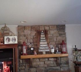 How do you continue the crown molding around a stone fireplace