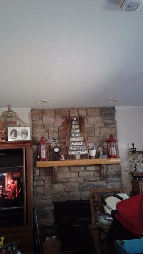 q how do you continue the crown molding around a stone fireplace