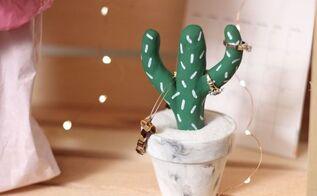 diy cactus jewelry holder