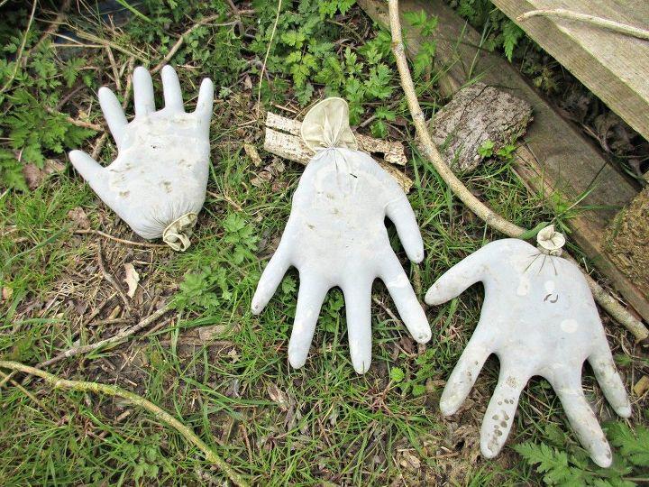 our concrete hand sculptures