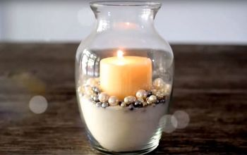 Glitter and Pearl Candle Holder. DIY Room Decor. Interior Decor Ideas