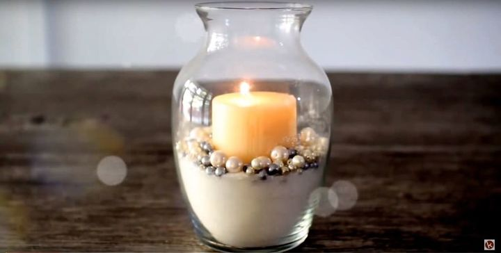 glitter and pearl candle holder diy room decor interior decor ideas