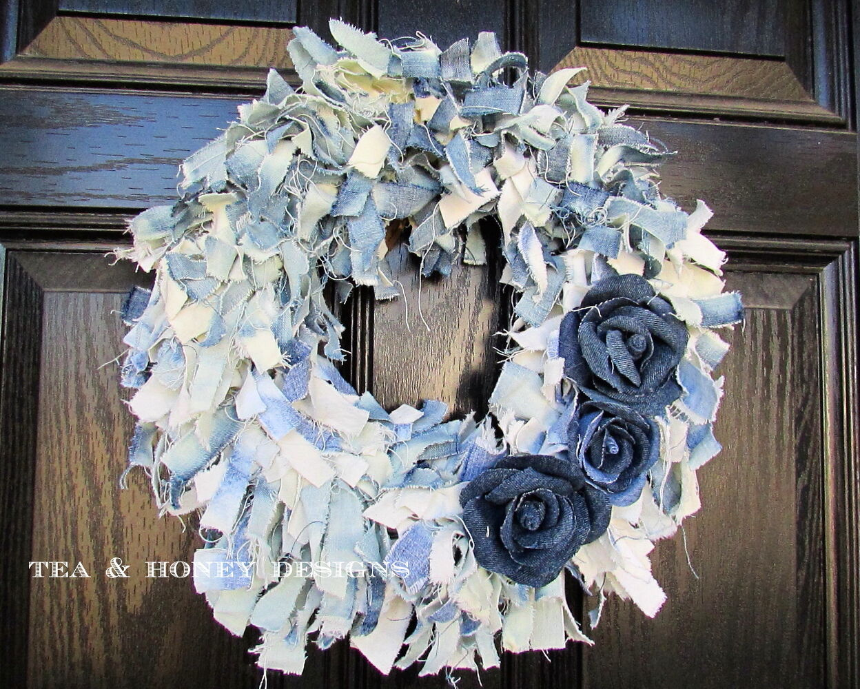 Denim Rag Wreath