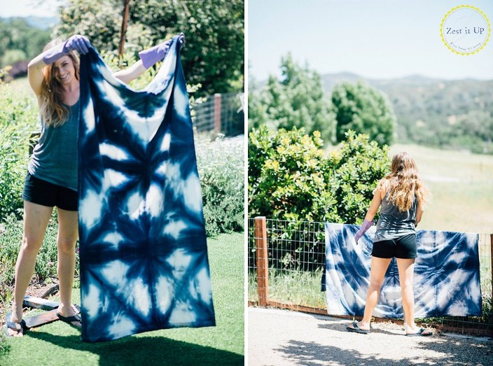 s 30 jaw dropping decorating techniques you ve never seen before, Fold dye fabric for shibori style makeovers