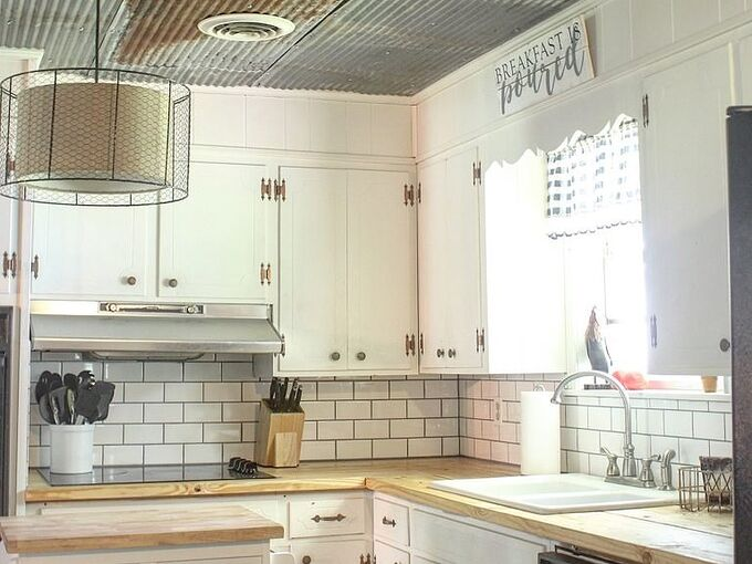 butcher block look a like countertops for under 100