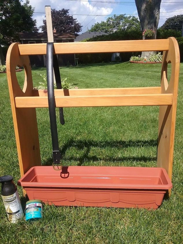 Well-known Quilt Rack Turned Outdoor Planter | Hometalk AV35