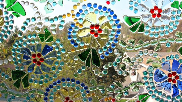s 10 refreshing ways to decorate your home windows, Mix Broken Glass With Marbles