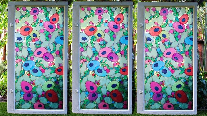 s 10 refreshing ways to decorate your home windows, Combine Resin And Tissue Paper