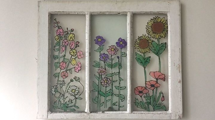 s 10 refreshing ways to decorate your home windows, Stain Glass With Glue And Paint