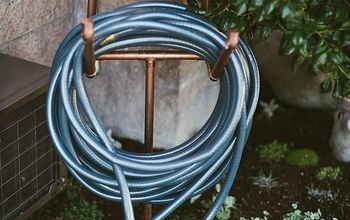 diy copper hose stand