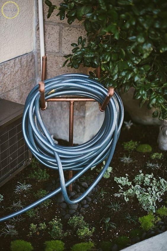 diy copper hose stand
