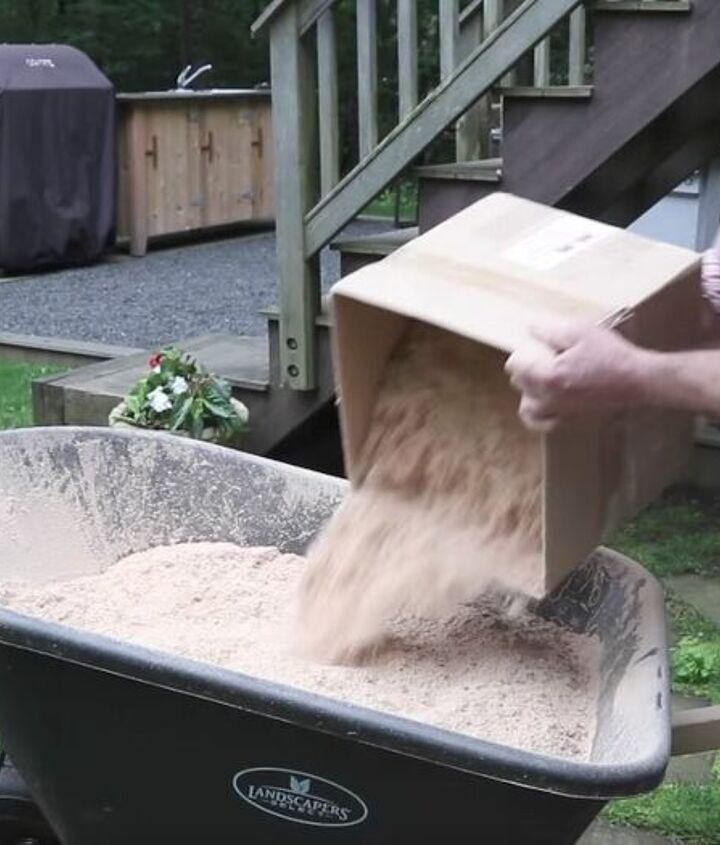 how to make grass grow fast fix bald spots, Step 1 Add saw dust or a bag of peat moss