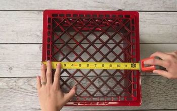 turn a plastic crate into the best accessory for your backyard