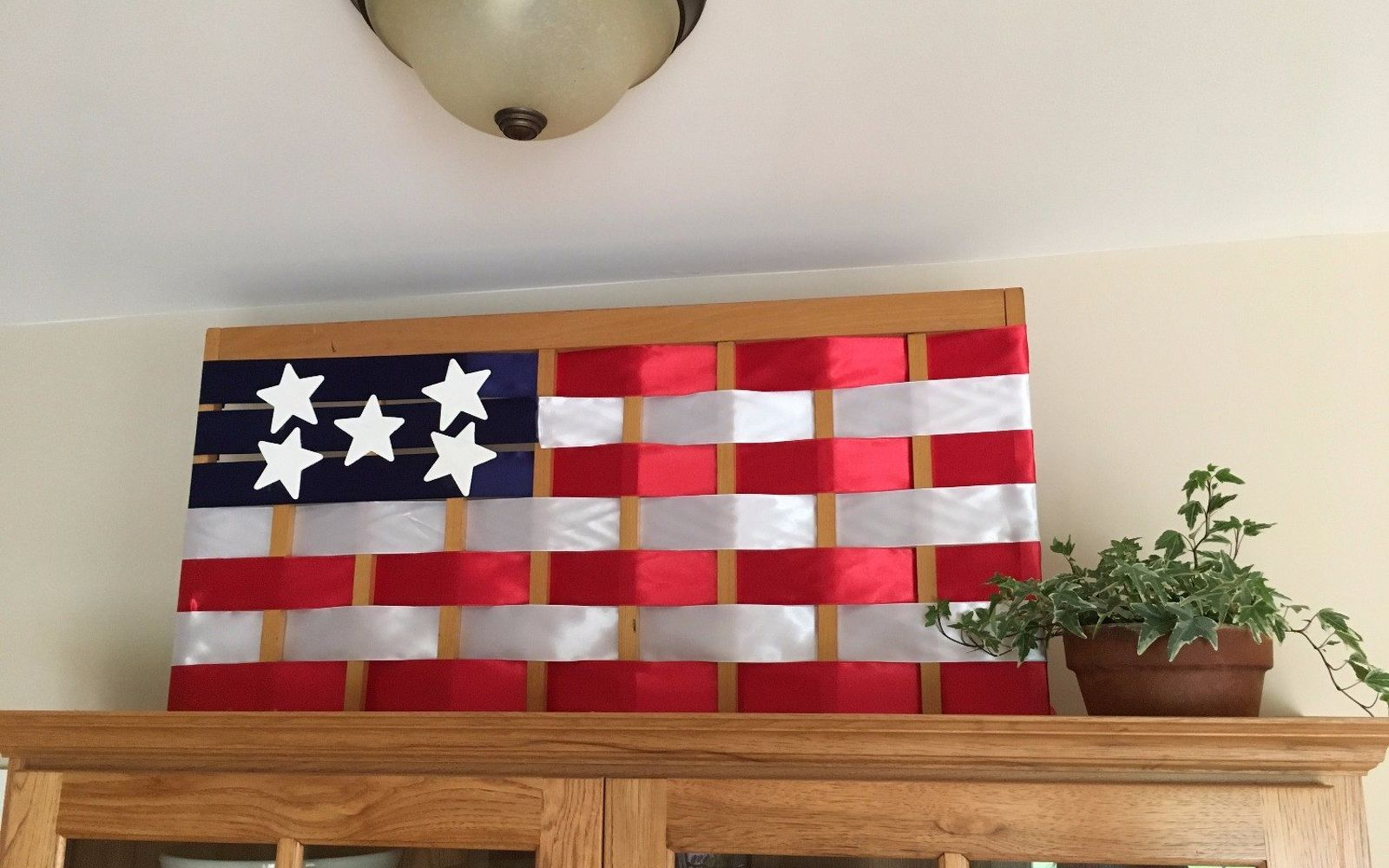 s 10 patriotic projects perfect for your fourth of july party, Repurpose A Gate Into A Giant Flag