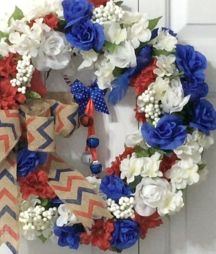 s 10 patriotic projects perfect for your fourth of july party, Pop Faux Flowers In Vines