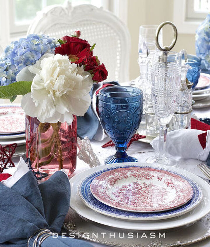 s 10 patriotic projects perfect for your fourth of july party, Have A Beautiful Brunch Tablescape