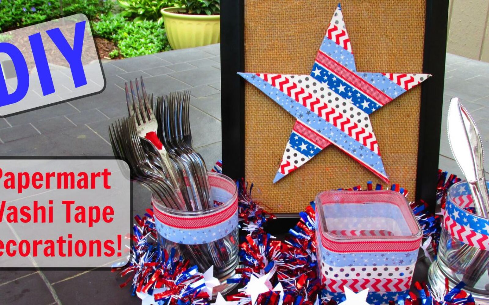 s 10 patriotic projects perfect for your fourth of july party, Coat Plywood In Patriotic Washi Tape