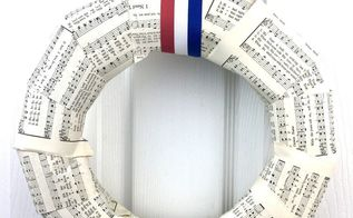 patriotic wreath tutorial using hymnal pages