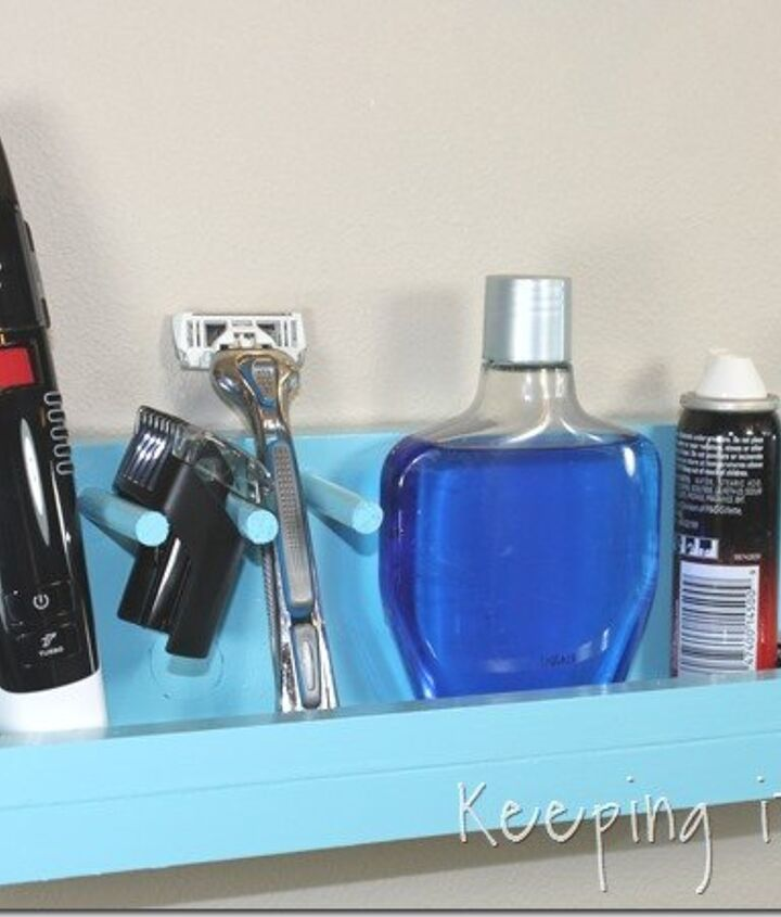 s 15 creative ways to wrangle in your home clutter, Clean Up Your Husband s Razors With A Shelf