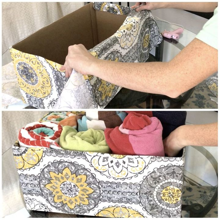 s 15 creative ways to wrangle in your home clutter, Cut Up A Diaper Box For Closet Storage
