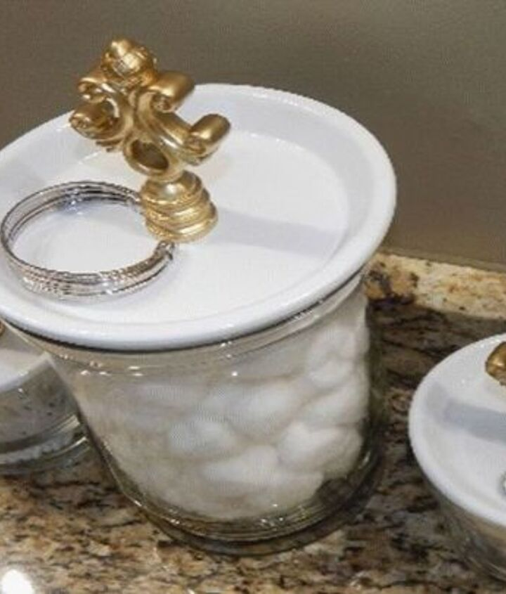 s 15 creative ways to wrangle in your home clutter, Spray Terra Cotta Plates For Canisters