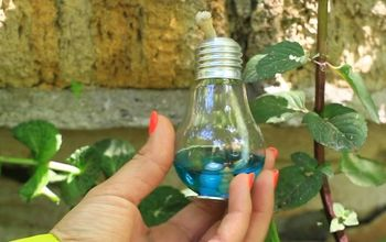 diy stylish candle made out of light bulb