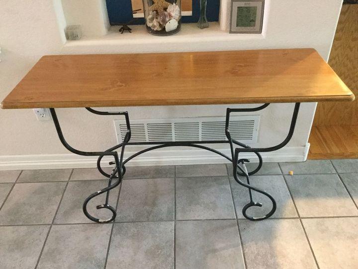 faux wood grain table hometalk