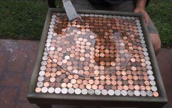 DIY Penny Top Table!