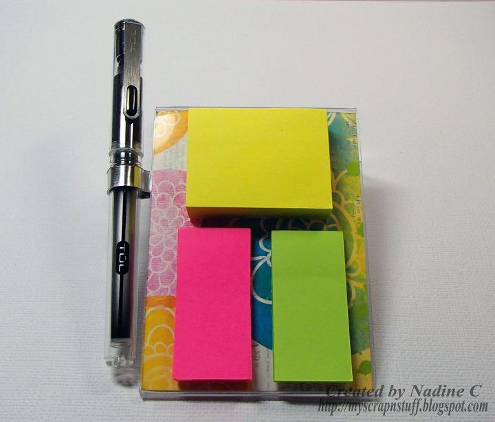 s 30 ideas to make your office look great, Cute and easy sticky notepad holder