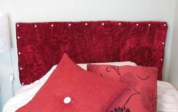 DIY Headboard Using Dollar Store Materials