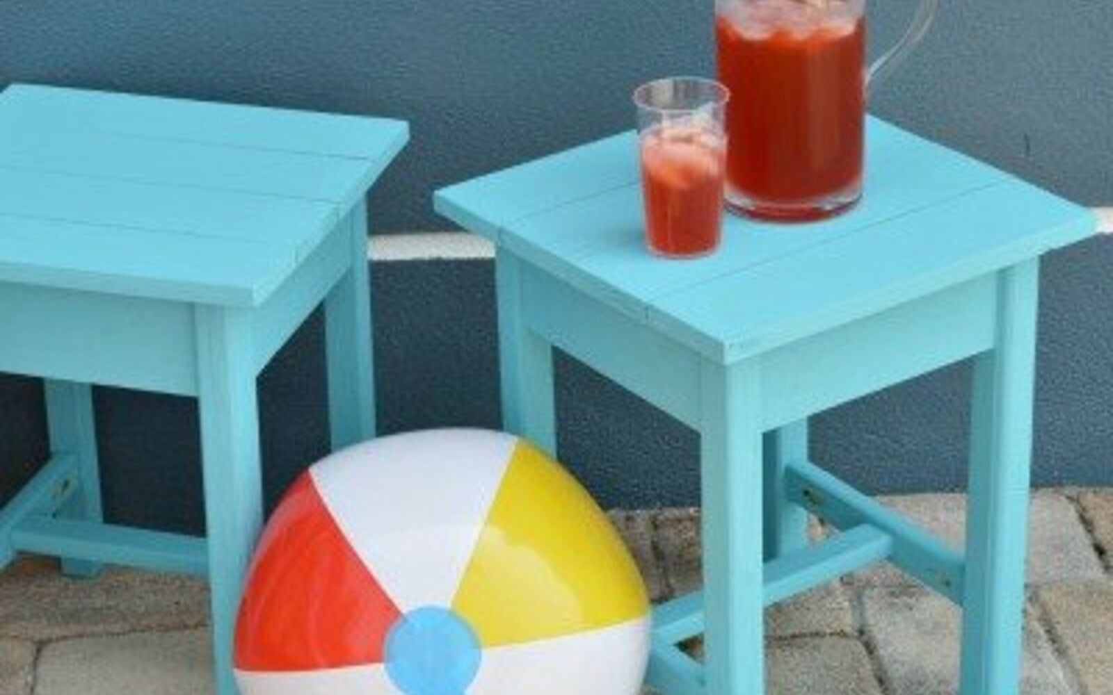 s 15 decorative ways your family can pretty up your patio, Build A Beautiful Adirondack Table