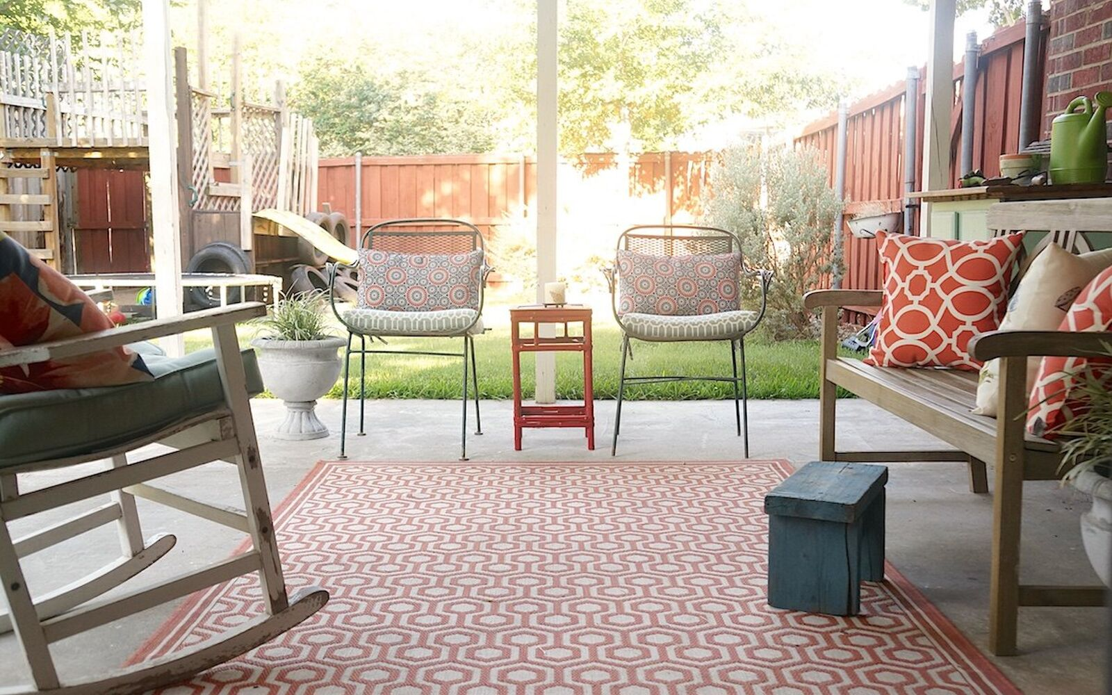 s 15 decorative ways your family can pretty up your patio, Include Vintage Pieces In Patio Theme