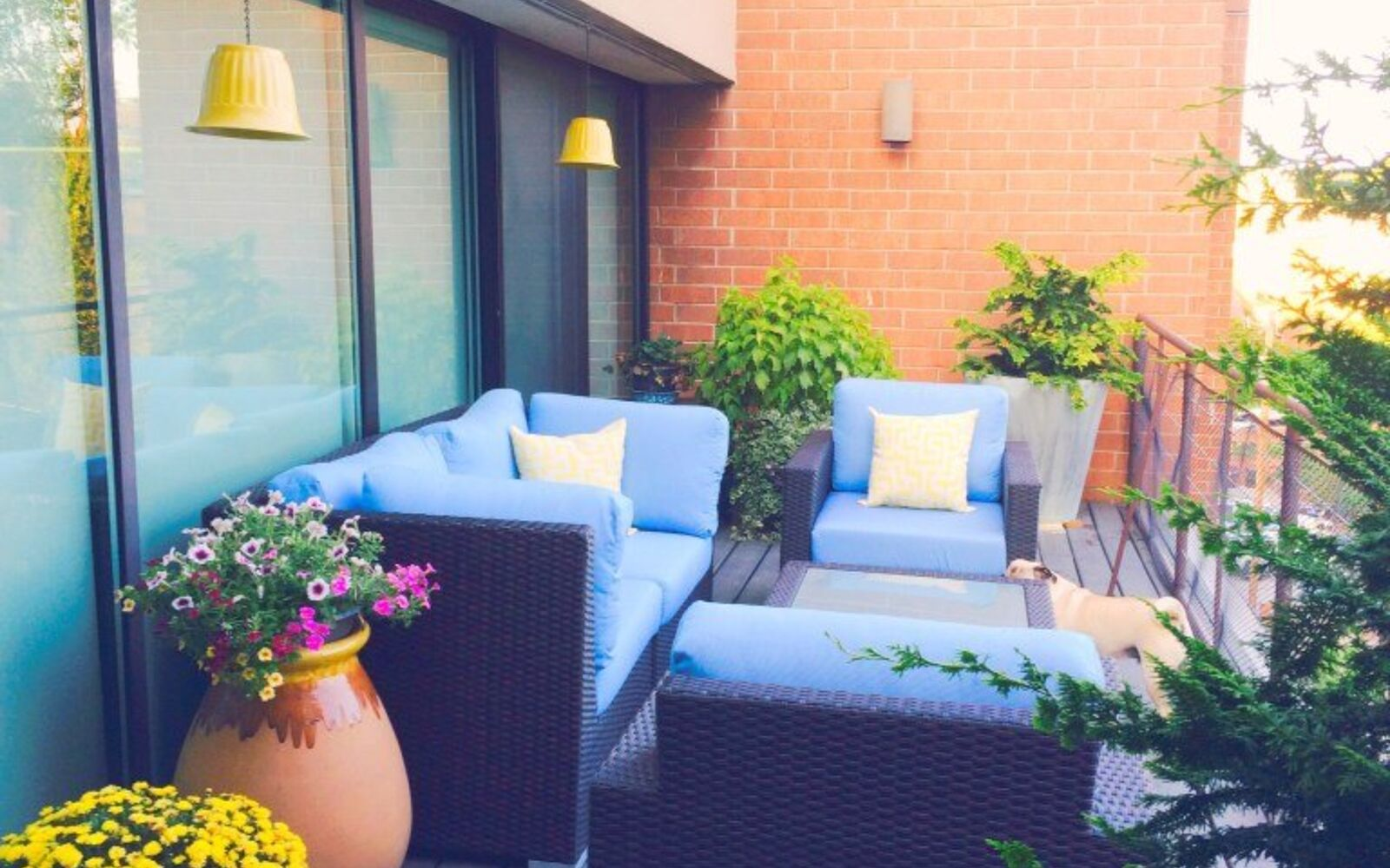 s 15 decorative ways your family can pretty up your patio, Hang Plastic Planter Pots For Light Shades