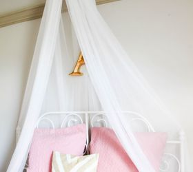 diy girls bed net canopy & DIY Girls Bed Net Canopy | Hometalk