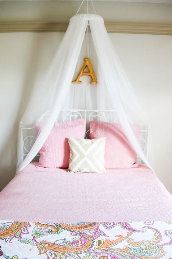 diy girls bed net canopy