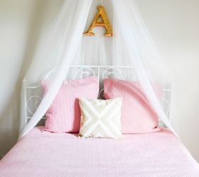 & DIY Girls Bed Net Canopy | Hometalk