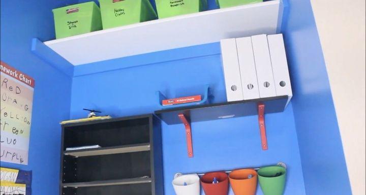 diy closet to homeschool homework nook