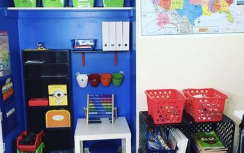 DIY Closet to Homeschool / Homework Nook