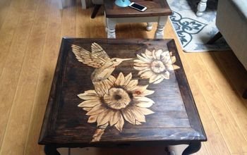 Coffee Table Do Over...stained Top Design