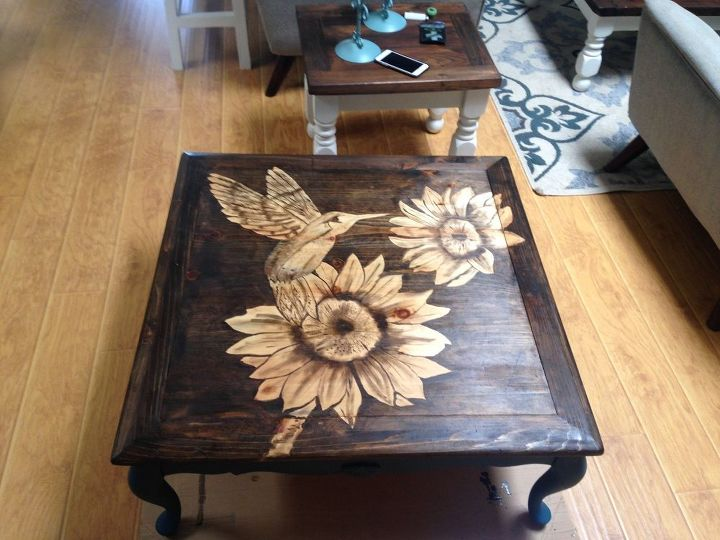 Coffee Table Do Over...stained Top Design | Hometalk