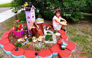 Tree Stump Fairy And Gnome Garden