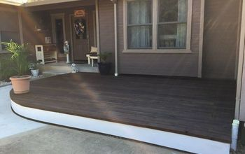 diy curved floating deck