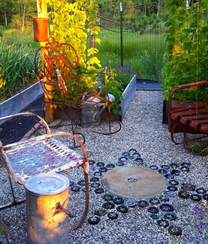s 30 neat ideas to upgrade your backyard, Turn used glass bottles into a star