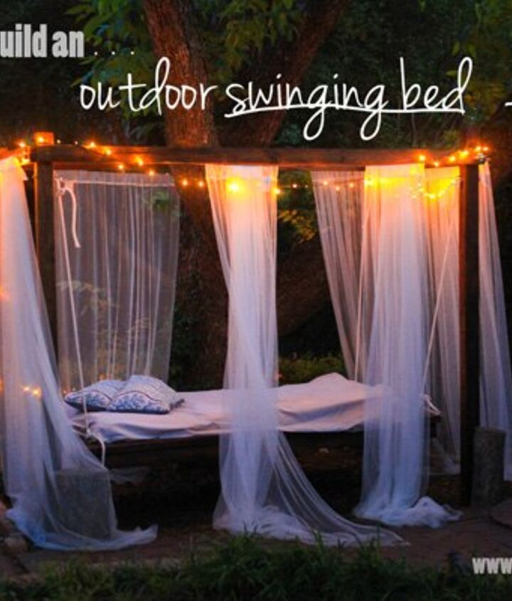 s 30 neat ideas to upgrade your backyard, Hang a gorgeous swinging bed outdoors