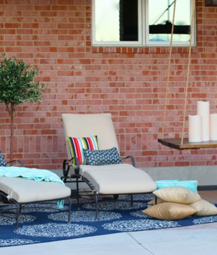 s 30 neat ideas to upgrade your backyard, Add a stylish hanging table to your backyard