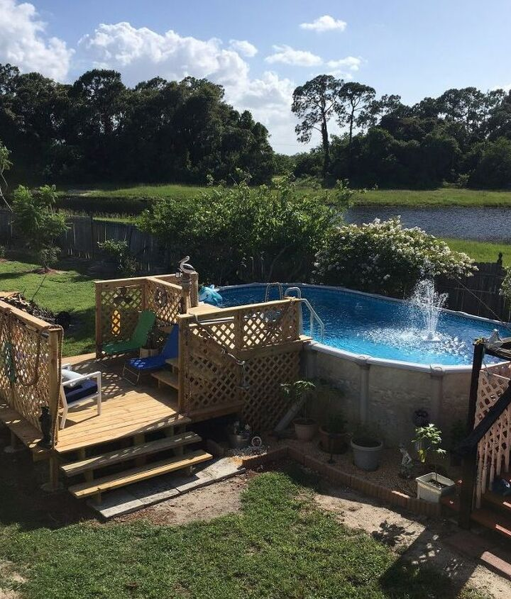 s 30 neat ideas to upgrade your backyard, Build your own pool deck