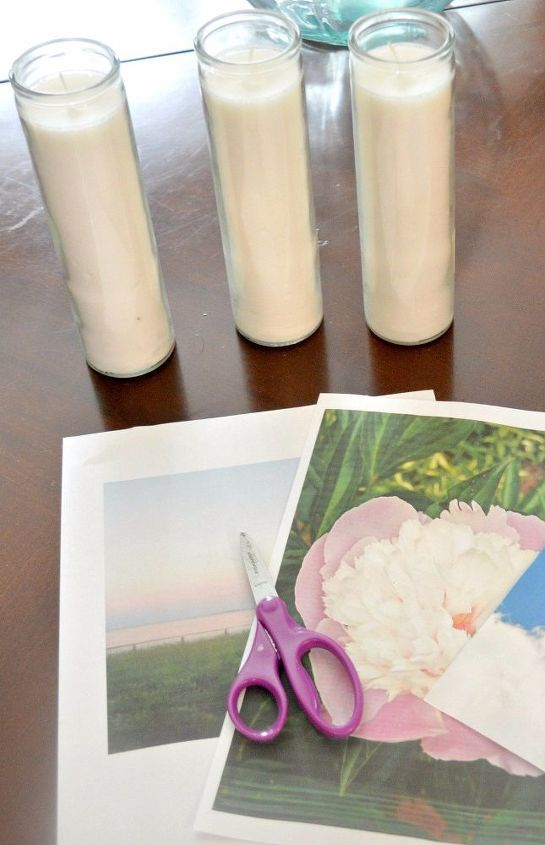 diy custom photo candles for 3