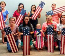 how to create patriotic plank art