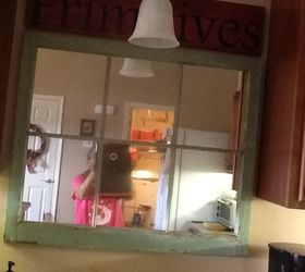 i put up an old mirror window and it helps  i u0027m thinking maybe ideas needed for blank wall above kitchen sink    hometalk  rh   hometalk com